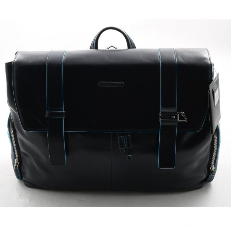 Blue Square Piquadro leather briefcase