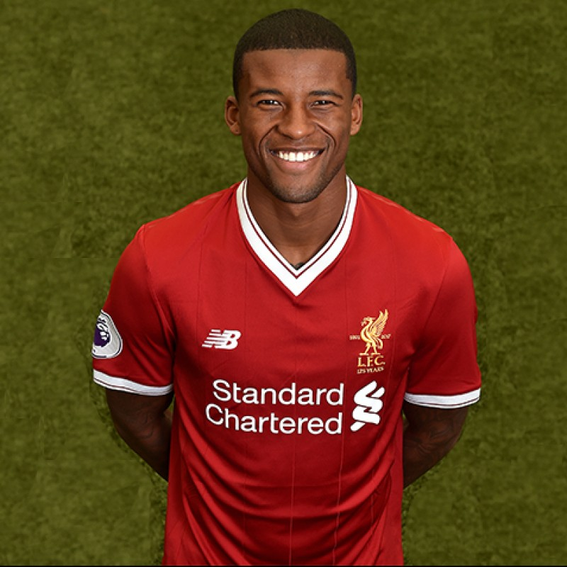 Georginio Wijnaldum's Worn and Signed Limited Edition 'Seeing is Believing' 17/18 Liverpool FC Shirt