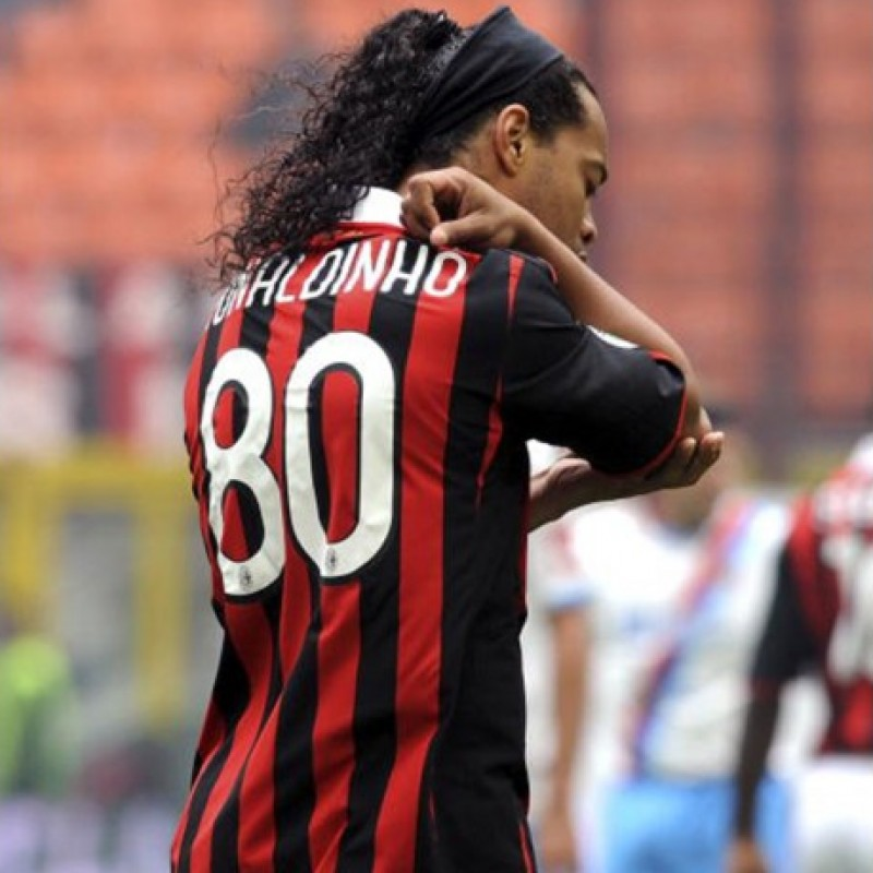 Ronaldinho's Official Signed Milan Shirt, 110 Years 2009/10