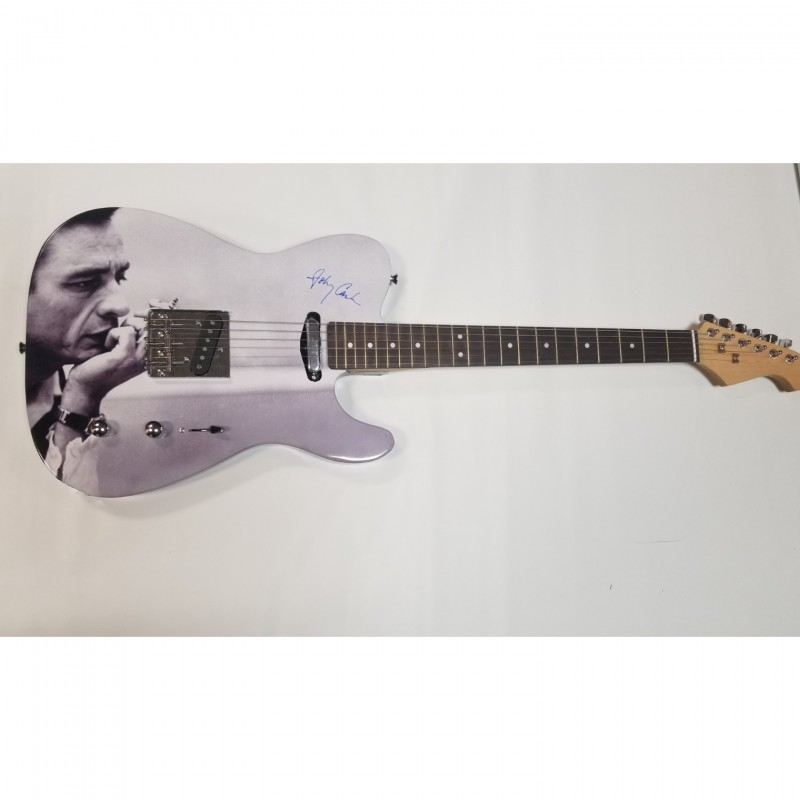 Johnny Cash Custom Photo Guitar