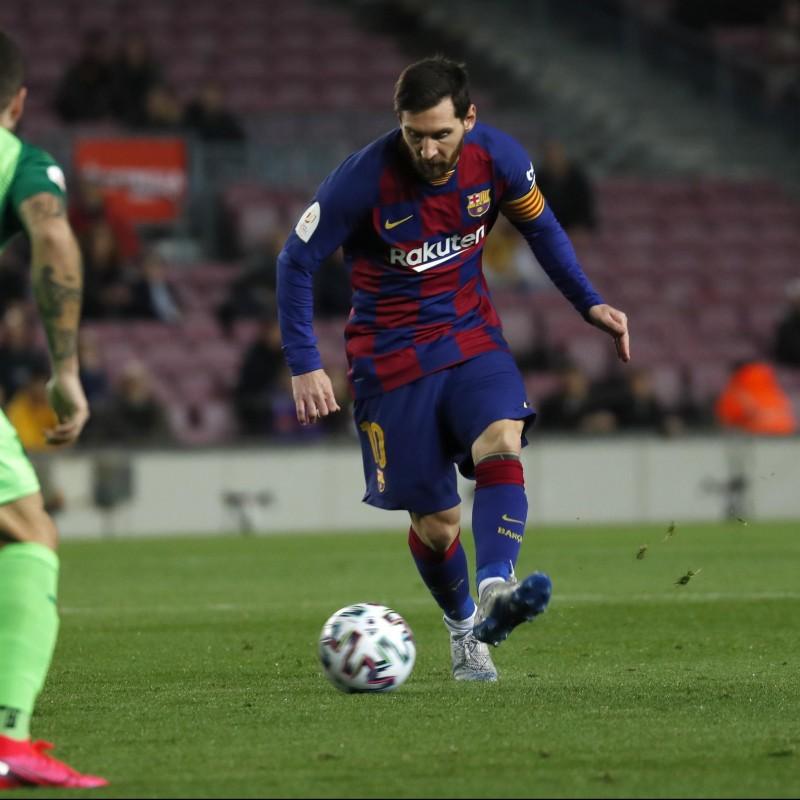 Messi's Barcelona Signed Match Shirt, Copa del Rey 2019/20