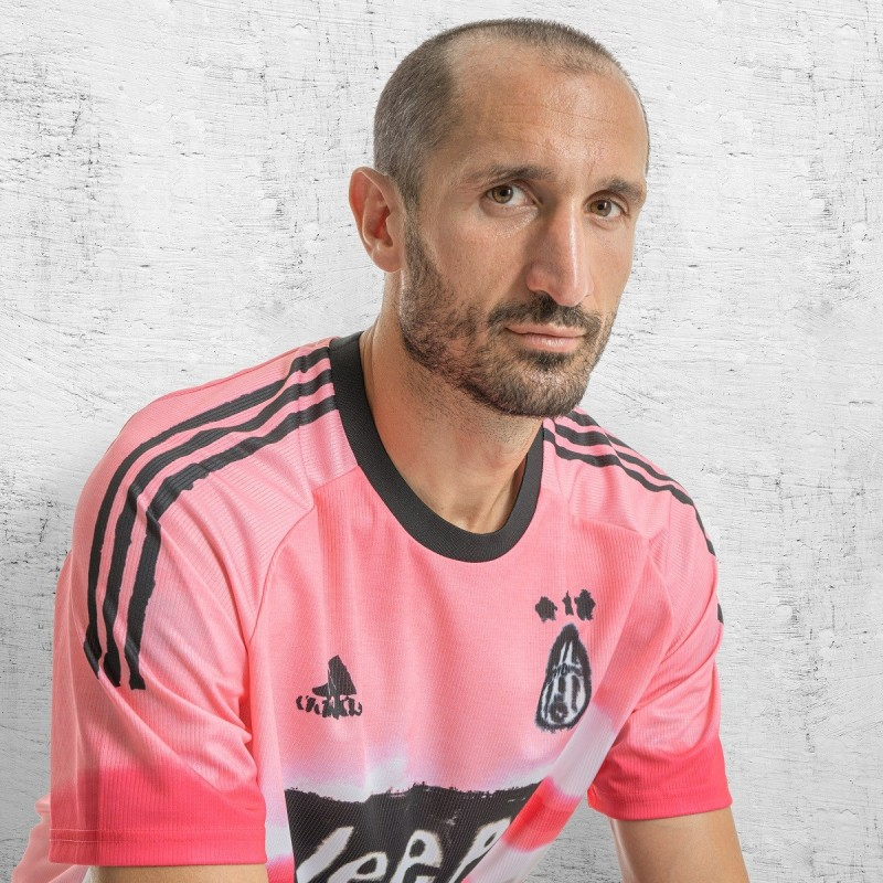 Chiellini's Juventus Signed Humanrace Match Shirt, 2020/21