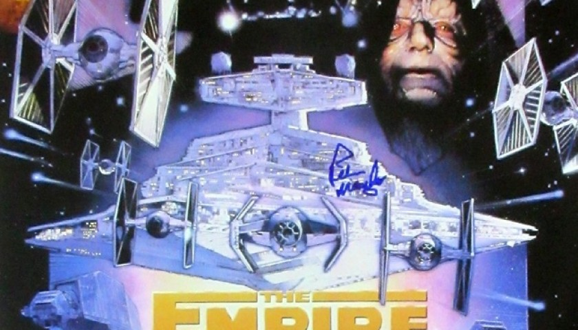 Star Wars Episode V The Empire Strikes Back Poster Signed By Peter Mayhew The Chewbacca Actor In Star Wars Charitystars