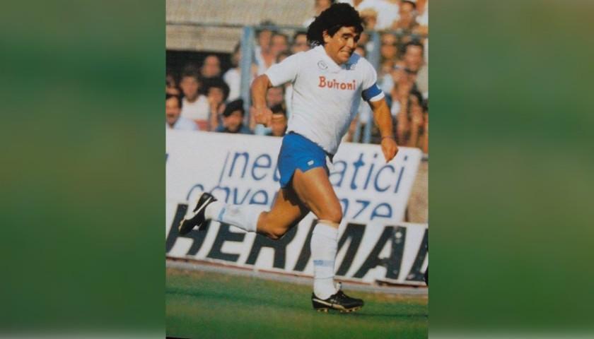 Captain's Armband Signed by Maradona