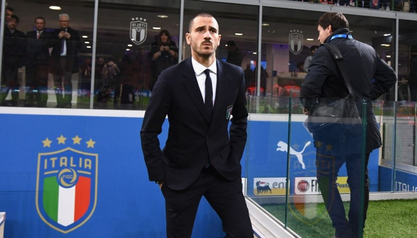Italy National Football Team Suit Worn by Leonardo Bonucci