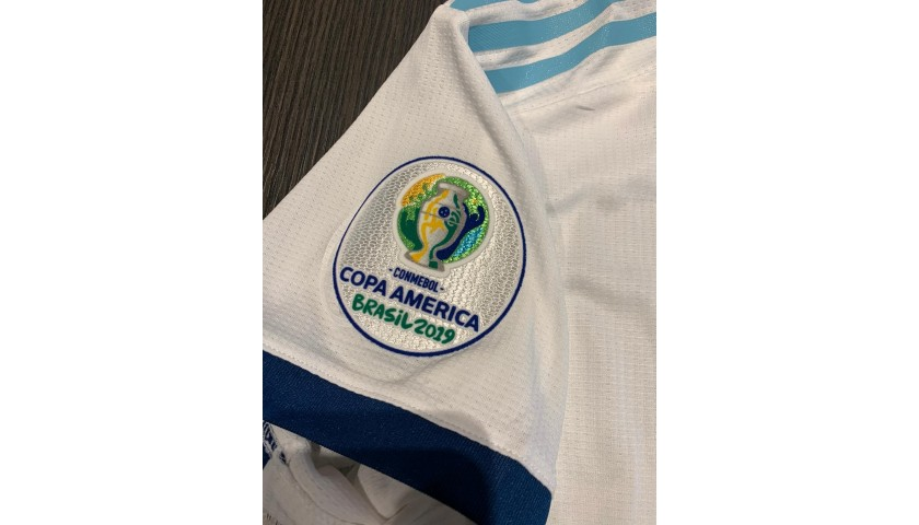Messi's Signed Match Shirt, Venezuela-Argentina 2019