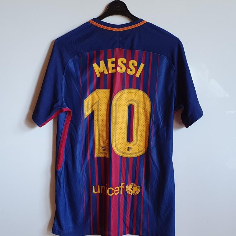 Messi's FC Barcelona Supercopa 2017 Match Shirt
