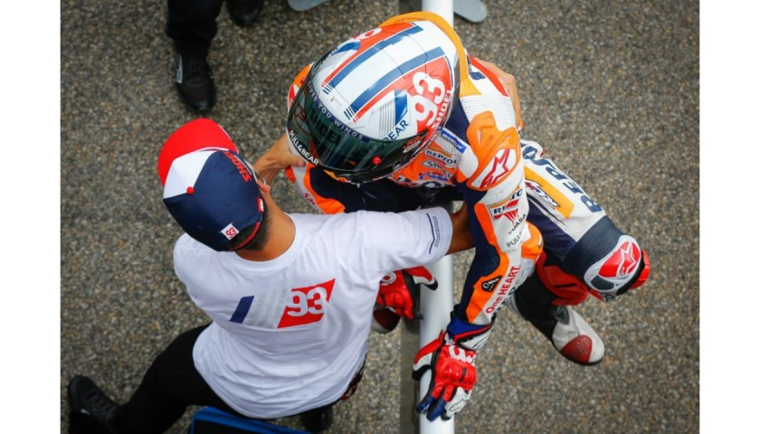 Marc Marquez - 'King of the Ring' Signed Race Winning Knee Sliders from Sachsenring