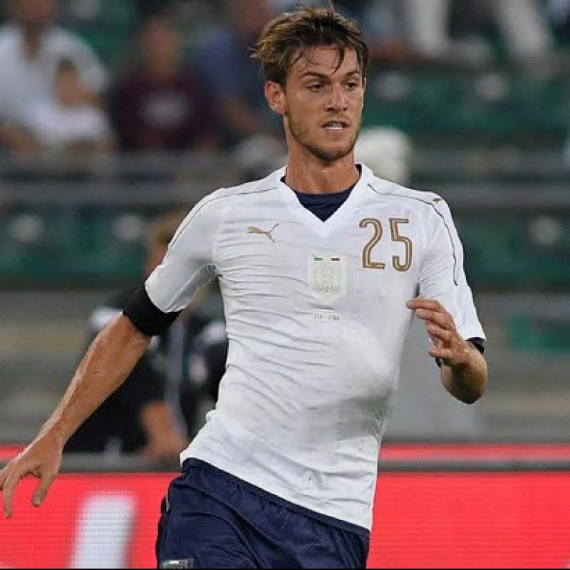 Rugani's Match-Issue/Worn and Signed Kit, Italy-France