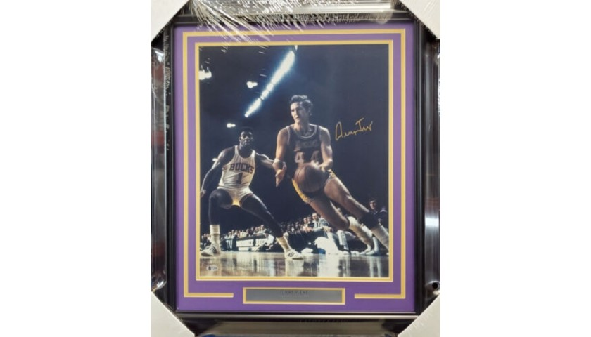 Jerry West Signed and Framed Photo