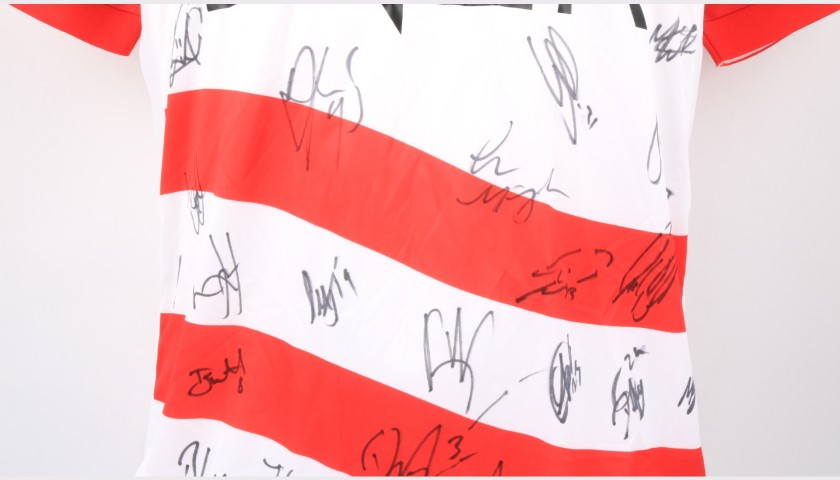 Doncaster Rovers Official Poppy Shirt Signed by the Team