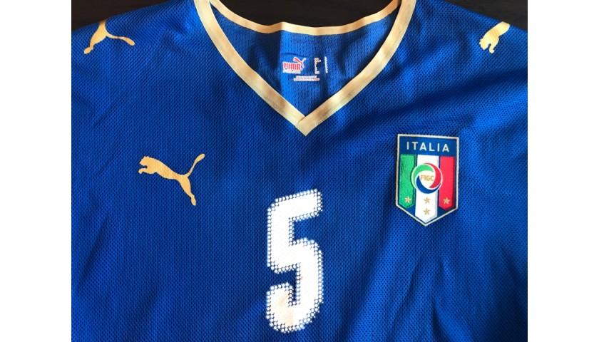 Cannavaro's Unwashed and Signed Match-Worn Shirt, Italy-Portugal 2008
