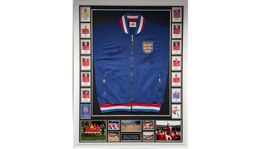 World Cup 1966 Replica Tracksuit Top Signed by Geoff Hurst and Martin Peters