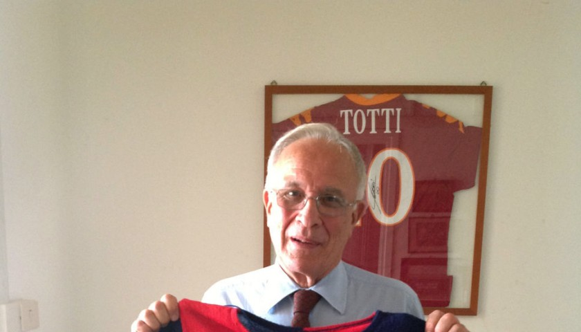 The shirt worn by Cagliari footballer Gigi Riva in the 1964-1965 Championship Games