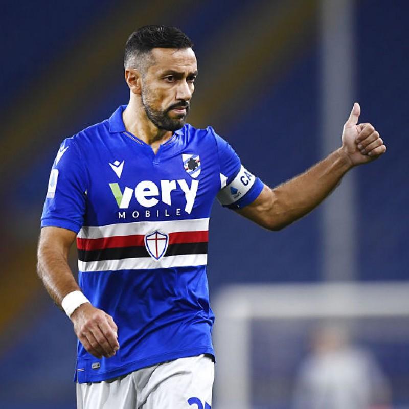 Quagliarella's Sampdoria Match Signed Shirt, 2020/21