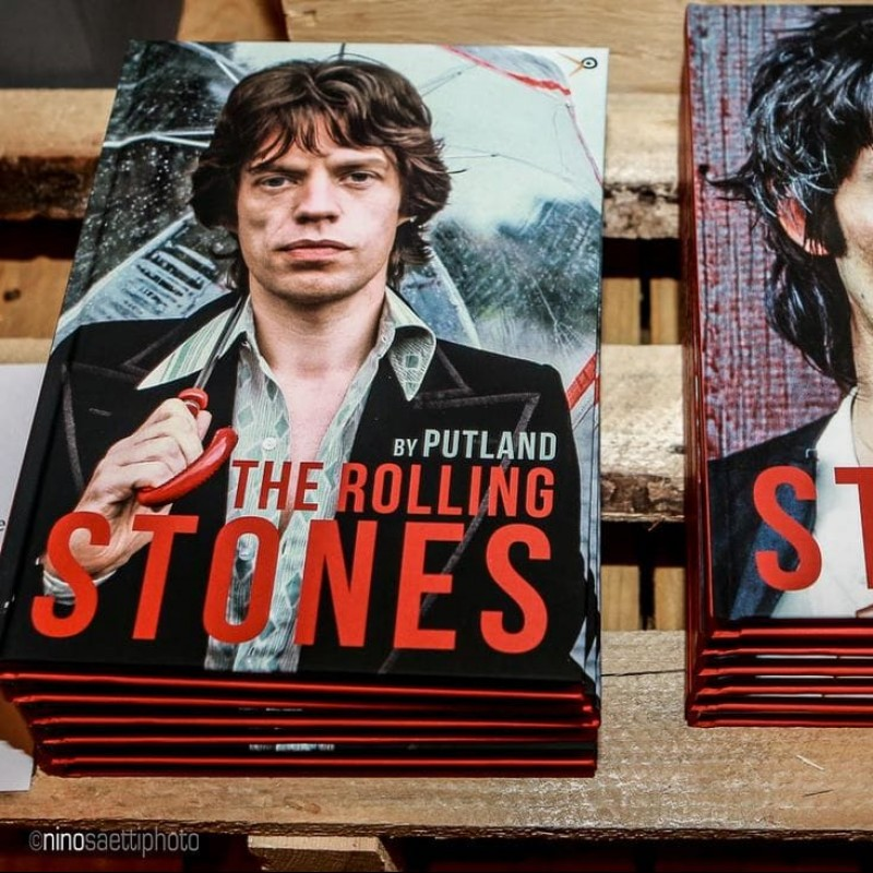 """""""The Rolling Stones"""" Book by Micheal Putland - Signed by Mick Jagger"""