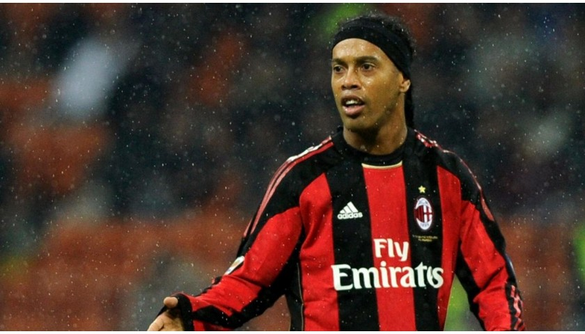 Ronaldinho's Official Signed Milan Shirt, 2010/11