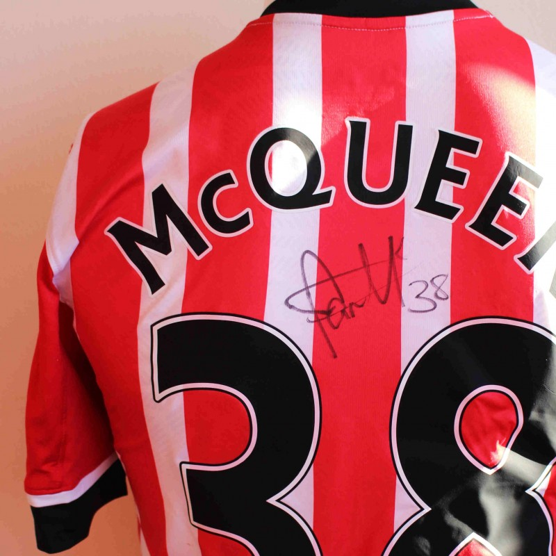 f1c6dc8c8 Sam McQueen s Match Worn and Signed Southampton FC Poppy Shirt from ...
