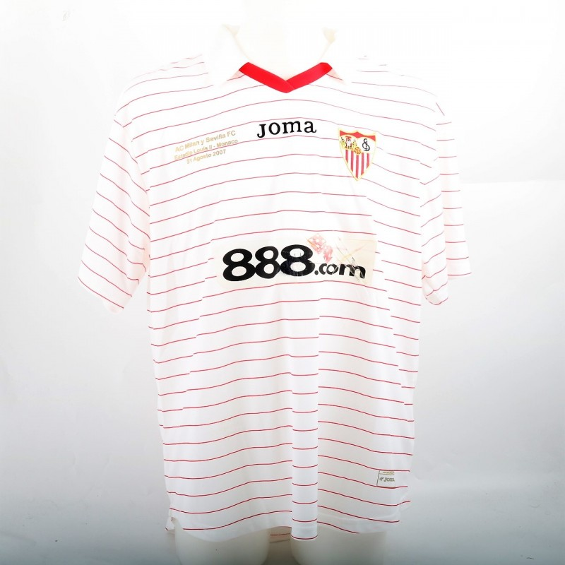 Luis Fabiano Match-Worn Shirt, European Supercup 2007
