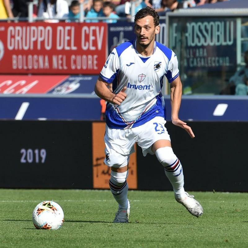 Gabbiadini's Sampdoria Match-Issued Signed Shirt, 2019/20