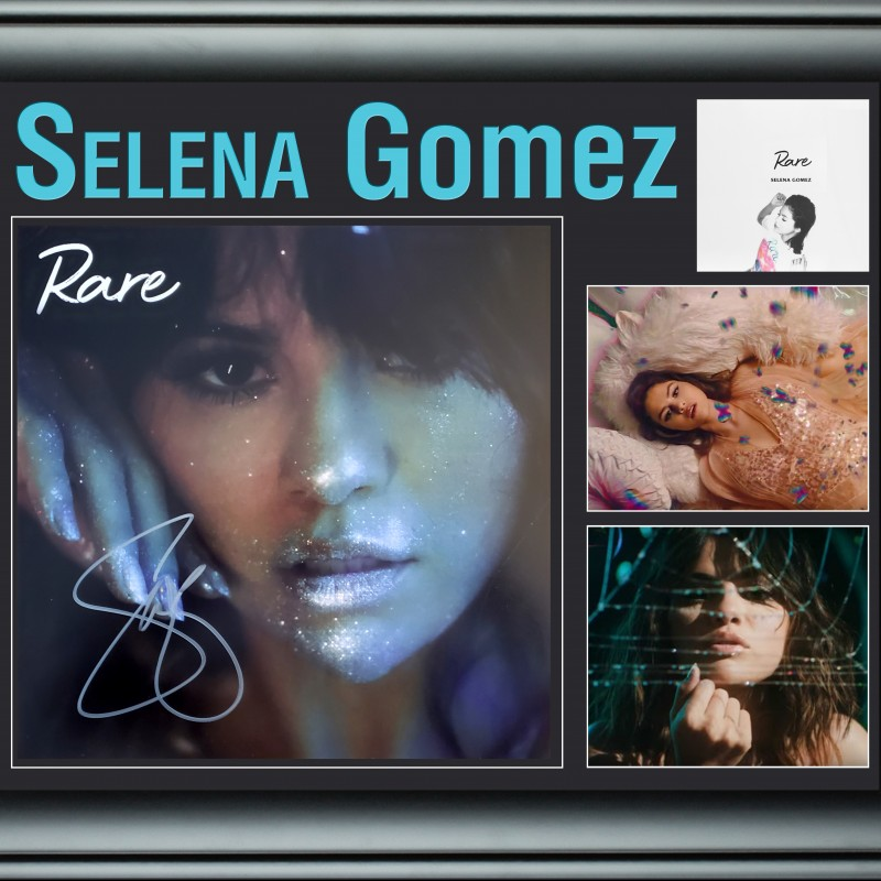 Selena Gomez Hand Signed, Custom Framed Display