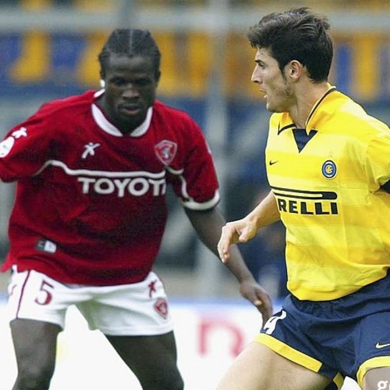 Zanetti's Signed Match-Issued/Worn 2002/03 Inter Shirt