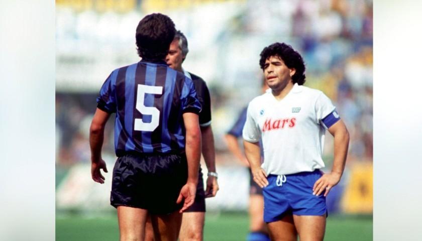Captain's Armband Signed by Diego Armando Maradona