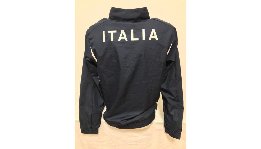 Italy Football Official Jacket Signed by Bonucci and Chiellini