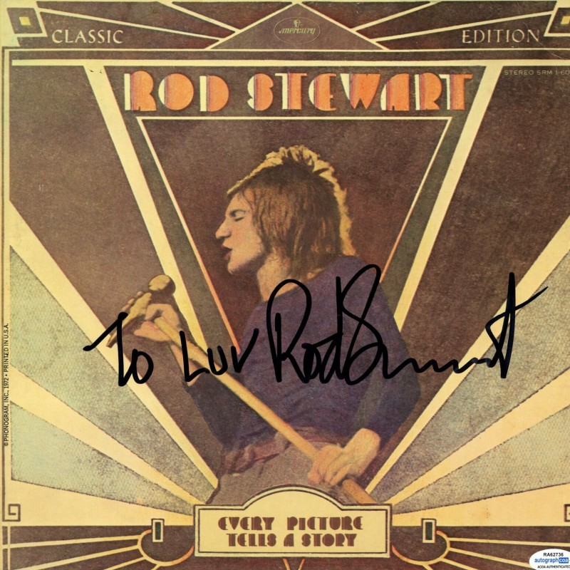 Rod Stewart Hand Signed Record Album