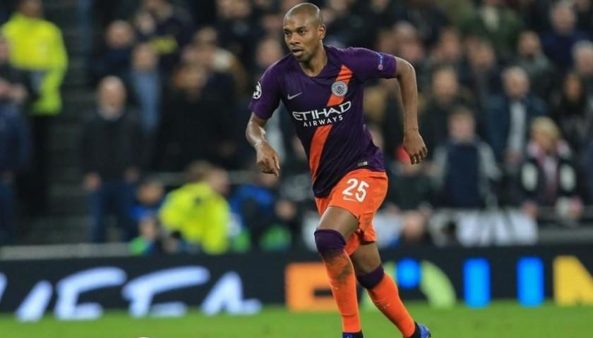 Fernandinho's Manchester City Match Shorts, Champions League 2018/19