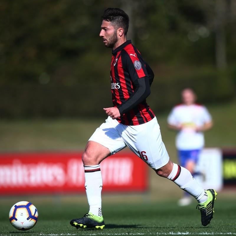 Bertolacci's AC Milan Match-Issue Signed Shirt, 2018/19