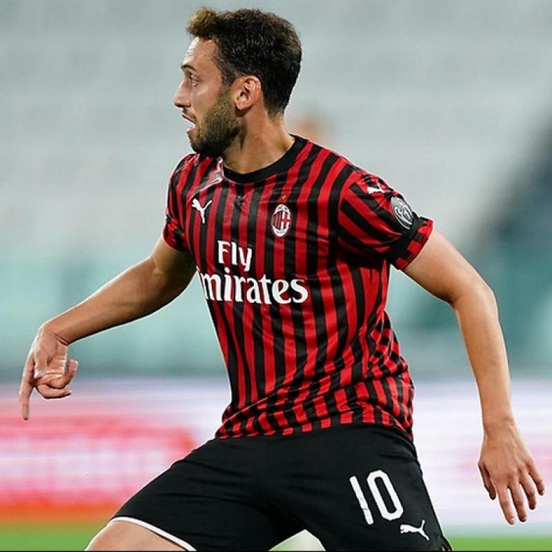 """""""Black Lives Matter"""" Training Shirt, Juventus-Milan - Signed by Calhanoglu"""