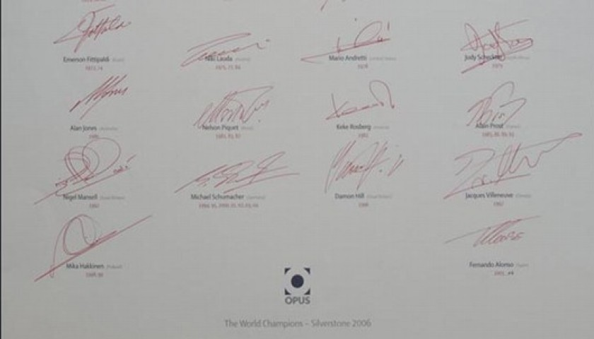 """Official F1 Opus"" Champions Edition Signed by 23 World Champions"