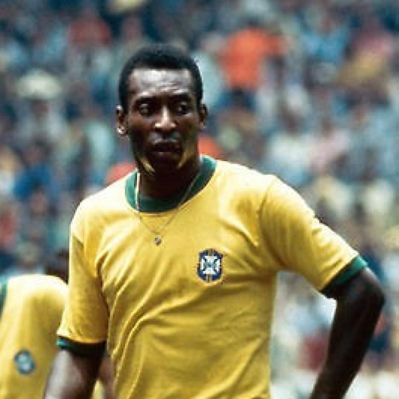 Brazil National Team Home Shirt Signed by Pelè