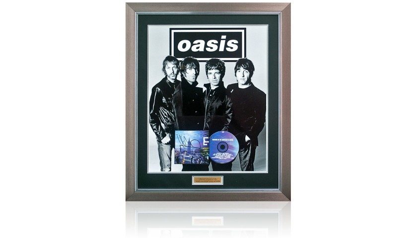 Oasis 'Standing on the Shoulders of Giants' Album' Album Cover Presentation Hand Signed by Noel & Liam Gallagher