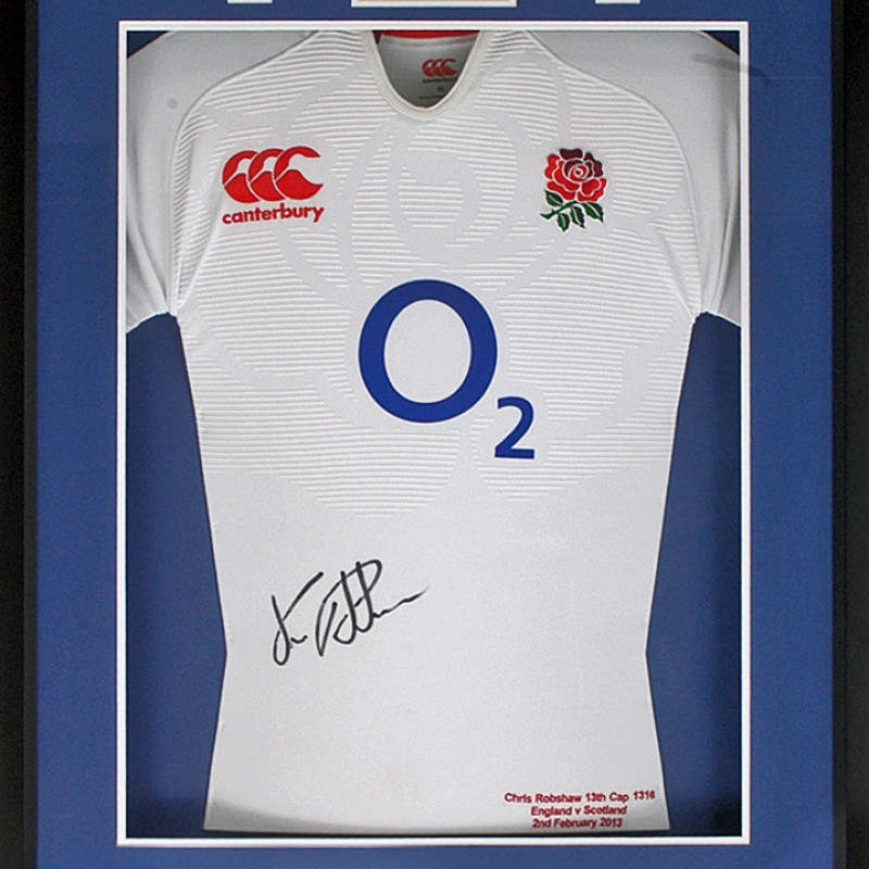 Chris Robshaw Hand Signed Match-Worn England Rugby Jersey