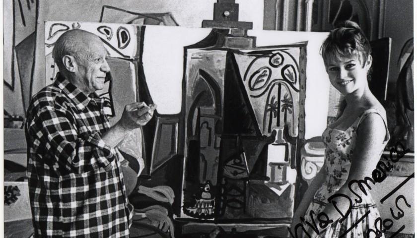 Brigitte Bardot and Pablo Picasso picture, signed by Brigitte Bardot