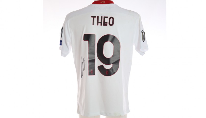 Theo's Worn and Signed Shirt, Lille-Milan 2020