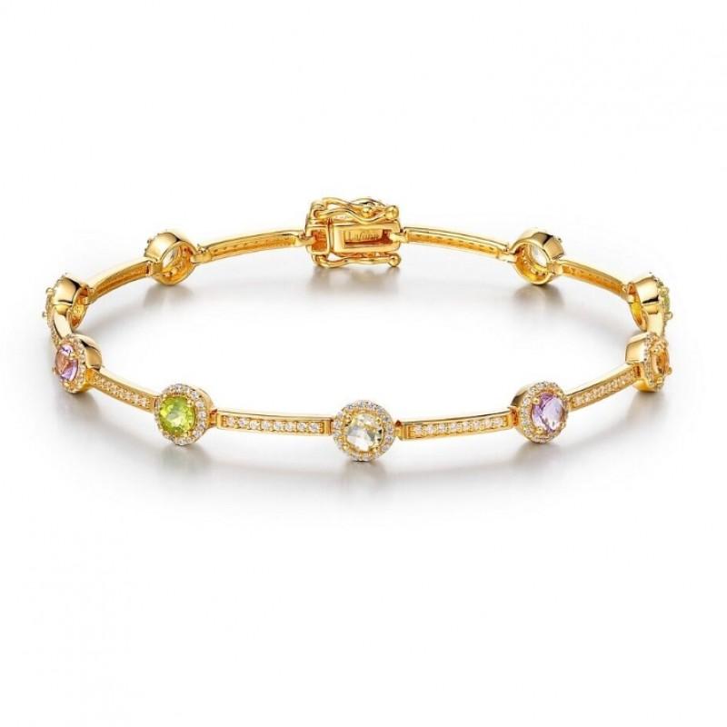 Lafonn Multi-Colored Gemstone Confetti Bracelet