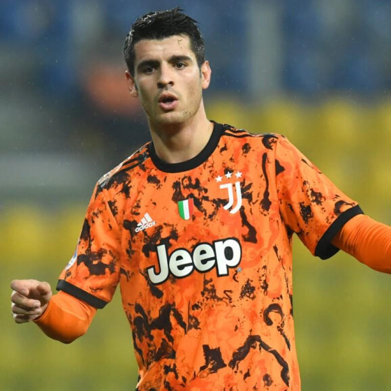 Morata's Official Juventus Signed Shirt, 2020/21