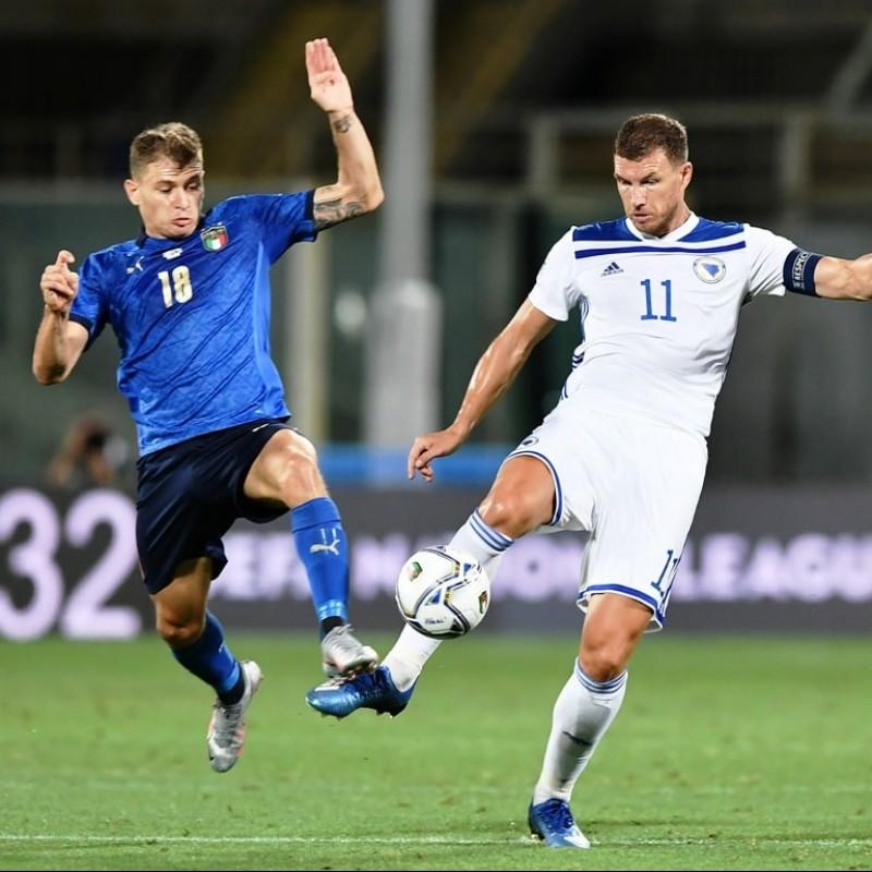 Barella's Match Shirt, Italy-Bosnia 2020