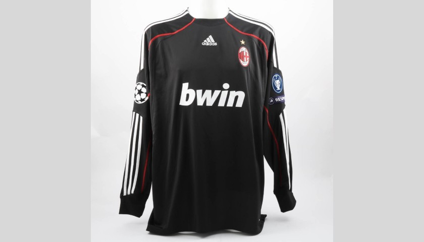 Abbiati's AC Milan Match-Issue Shirt, UCL 2009/10
