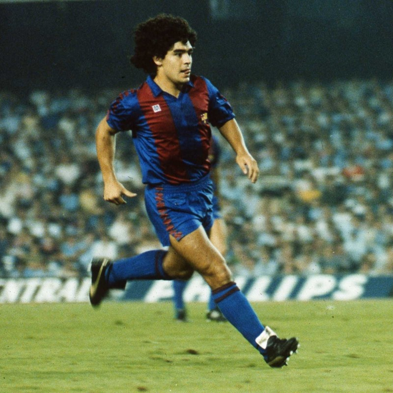 Maradona's Signed Match-Worn Barcelona Shirt, 1983