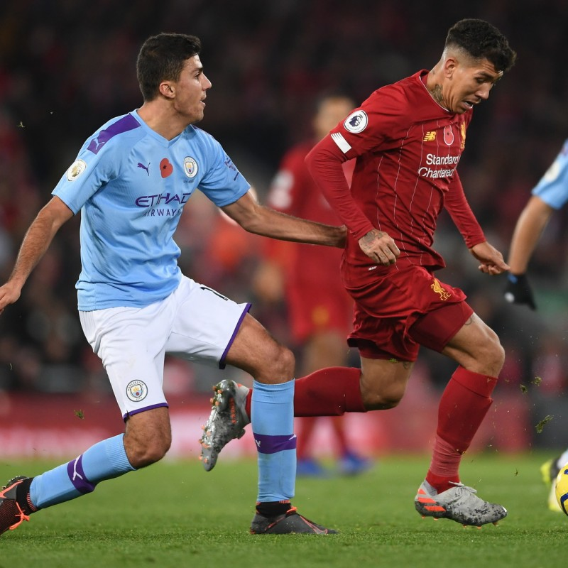 Firmino's Poppy Match Shirt, Liverpool-Man City 2019