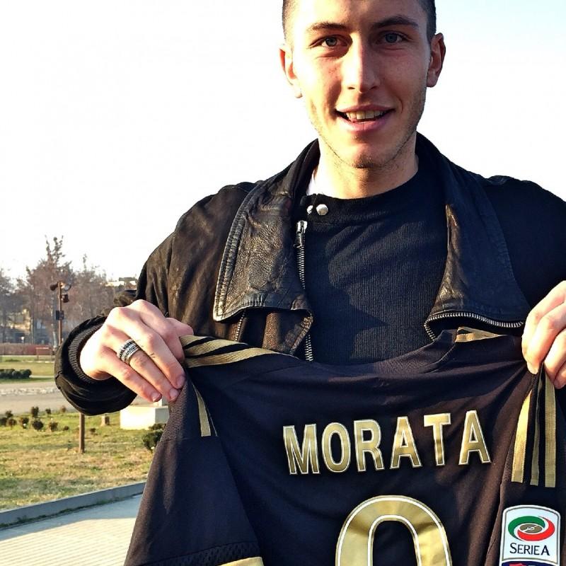 Match worn Morata shirt, Carpi-Juventus Serie A 20/12 - unwashed