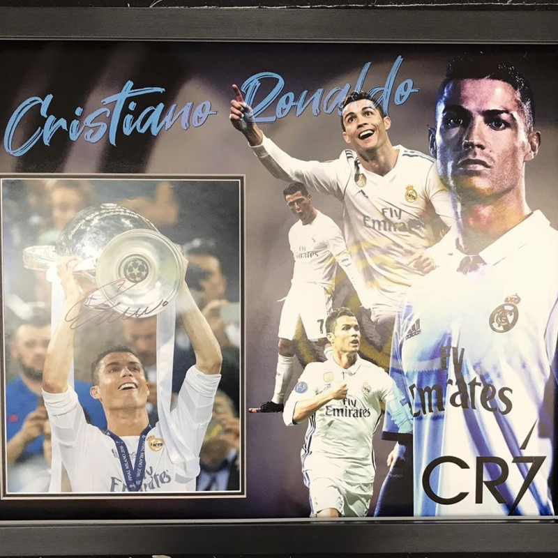 Cristiano Ronaldo Real Madrid Signed Photo Display