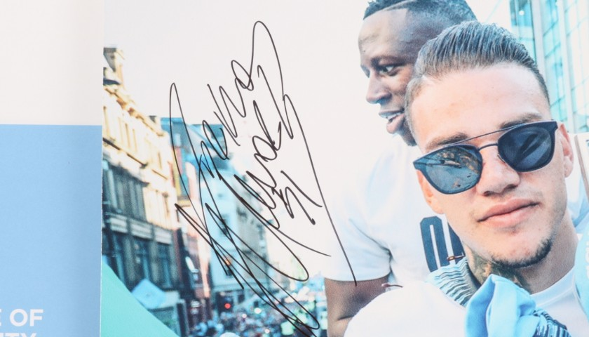 Manchester City Champions Parade Picture Signed by Ederson
