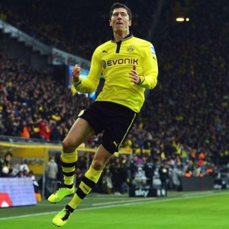 Lewandowski's Official Borussia Dortmund Signed Shirt, 2012/13