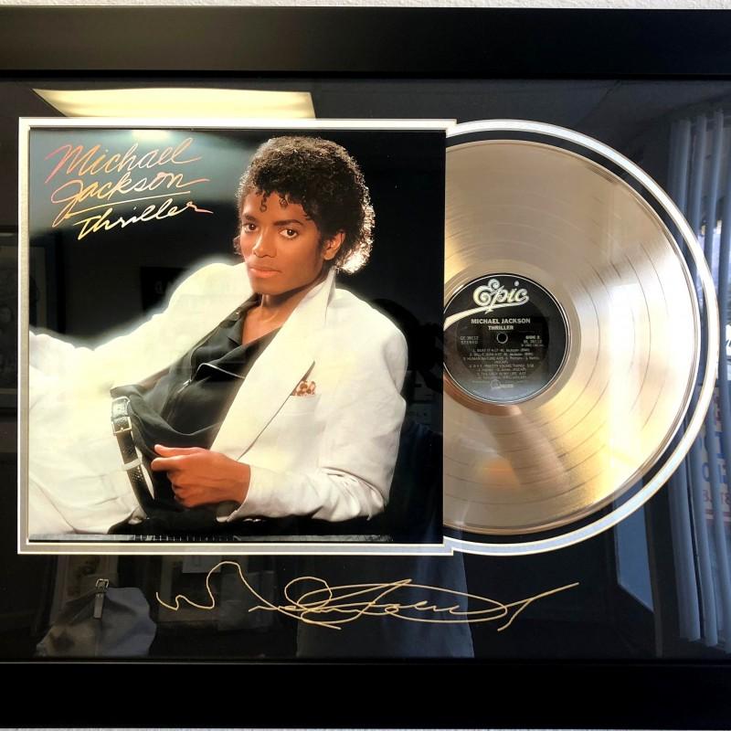 "Framed ""Thriller"" Gold-Plated Record"