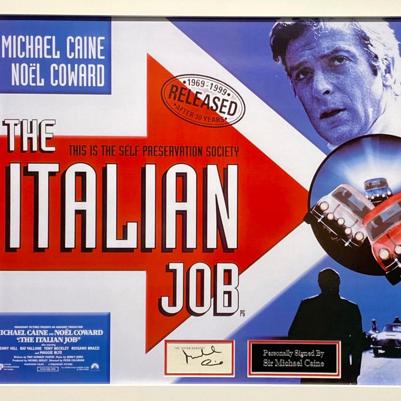 Italian Job Montage Signed by Sir Michael Caine